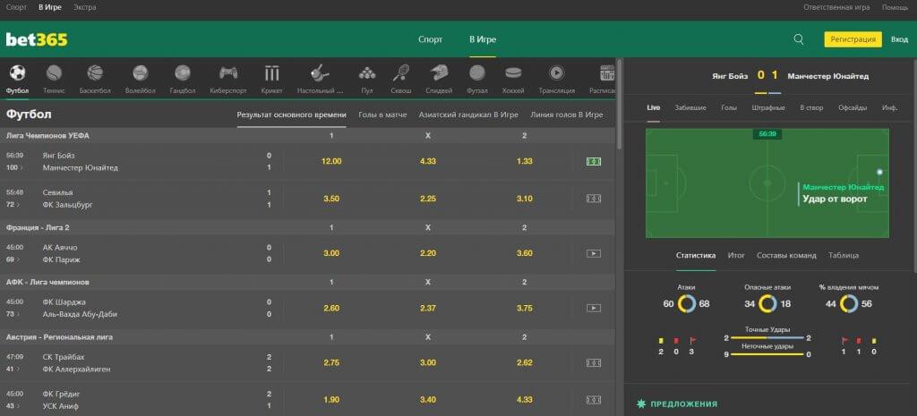 Live футбол bet365
